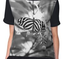 Rorschach's Butterfly Chiffon Top
