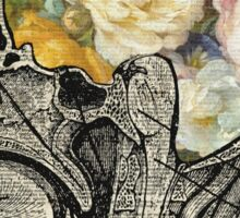 Brain Full Of Flowers Dictionary Art Sticker
