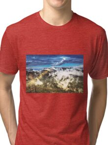 Sunrise ray of light onto the valley Tri-blend T-Shirt