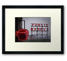 cold day ... hot coffee Framed Print