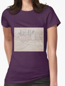 Vintage Map of Albany New York (1756) Womens Fitted T-Shirt