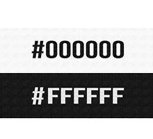 #000000 #FFFFFF Black & White The Neighbourhood Print by ninagi