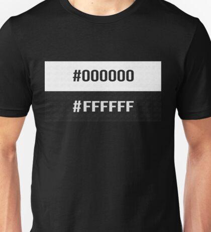 #000000 #FFFFFF Black & White The Neighbourhood Print Unisex T-Shirt