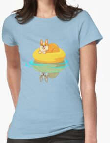 Summer Corgi Womens Fitted T-Shirt