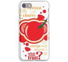 FruitHeads - cherry iPhone Case/Skin