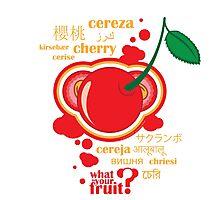 FruitHeads - cherry Photographic Print