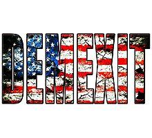 demexit american flag Photographic Print