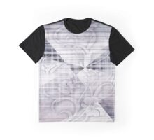 White Edged Flowers Graphic T-Shirt