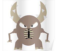 #127 Pinsir - Flat Colored Bug Type Pokemon Poster