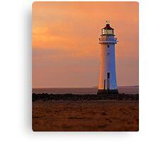 sunlit lighthouse Canvas Print