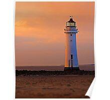 sunlit lighthouse Poster