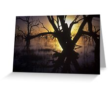 menindee sunset Greeting Card