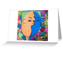 The Mirror has Two Faces Greeting Card