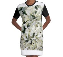 White Sweet Pea Design for T-shirt or other Products Graphic T-Shirt Dress