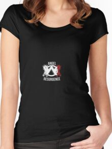 White and Red Design (apply to black clothes) Women's Fitted Scoop T-Shirt