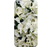 White Sweet Pea Design for T-shirt or other Products iPhone Case/Skin