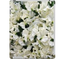 White Sweet Pea Design for T-shirt or other Products iPad Case/Skin