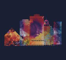 Memphis landmarks watercolor poster Kids Tee