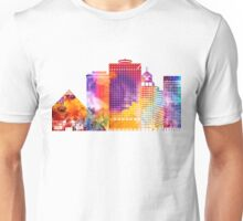 Memphis landmarks watercolor poster Unisex T-Shirt
