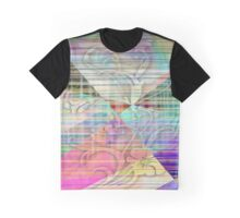 Colored Edged Flower Graphic T-Shirt