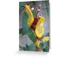 Yellow Flora Greeting Card