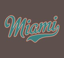 Miami Script Teal  by Carolina Swagger
