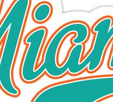 Miami Script Teal  Sticker