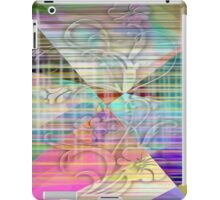 Colored Edged Flower iPad Case/Skin