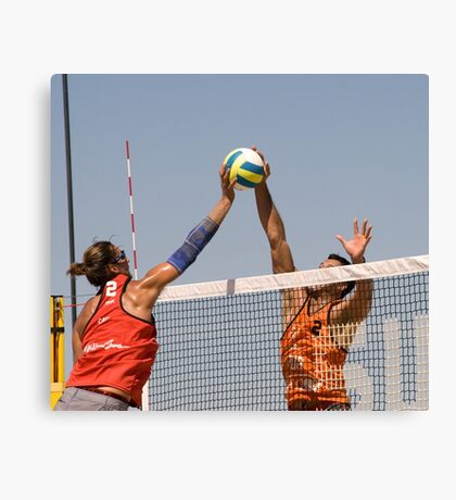 Fight at the Net Canvas Print