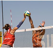 Fight at the Net Photographic Print