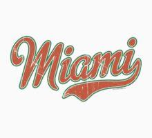 Miami Script Orange VINTAGE Kids Clothes