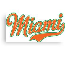 Miami Script Orange Canvas Print
