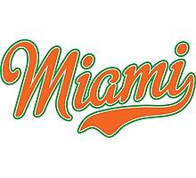 Miami Script Orange Photographic Print