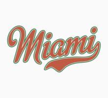 Miami Script Orange Kids Clothes
