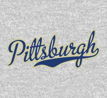 Pittsburgh Script Blue VINTAGE T-Shirt