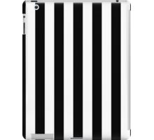 White and Black Large Vertical Cabana Tent Stripe iPad Case/Skin