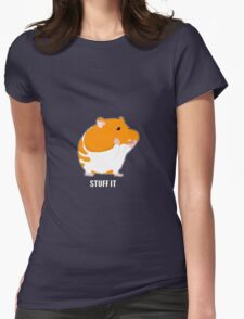 Stuff It - Hamster Womens Fitted T-Shirt