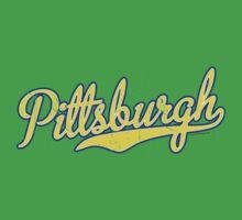 Pittsburgh Script Blue  Kids Clothes