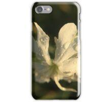 Wet White Flower iPhone Case/Skin