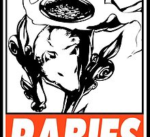 Amaterasu Rabies Obey Design by SquallAndSeifer