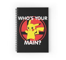 Who's Your Main? Pikachu! Spiral Notebook