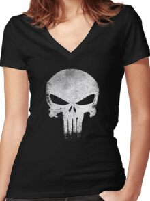 PUNISHER VINTAGE Women's Fitted V-Neck T-Shirt