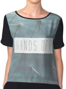 Hands Off Chiffon Top