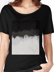 Zen Landscape in black and white Women's Relaxed Fit T-Shirt