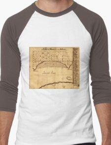 Old Alexandria VA Map by George Washington (1749) Men's Baseball ¾ T-Shirt