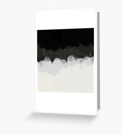 Zen Landscape in black and white Greeting Card