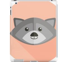 illustration of funny racoon iPad Case/Skin