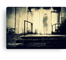 Shadows Behind the Theater Canvas Print