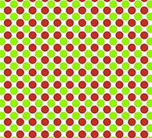 Christmas Red Green and White Dots by BeachBumFamily