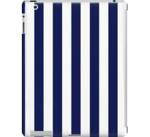 Classic Navy Blue and White Large Vertical Cabana Tent Stripe iPad Case/Skin